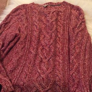 J. Jill Heather Cable Knit Sweater